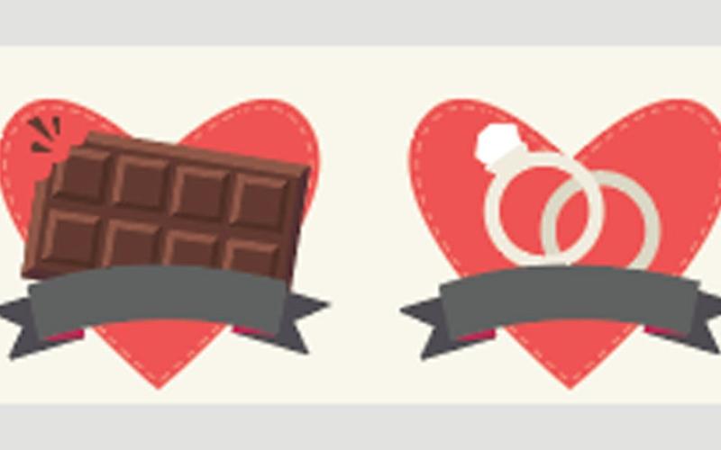الصورة: ( إنفوغرافيك) ... عادات غريبة في يوم الحب حول العالم