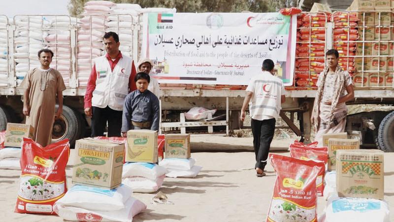 3050 فردا من ذوي الدخل المحدود في عسيلان استفادوا من مساعدات «الهلال». وام
