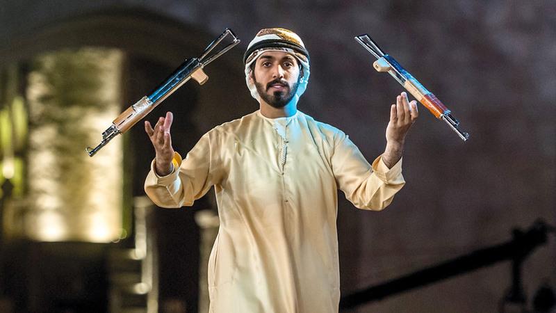 بسلاحين استعرض الحبسي مهاراته لأجل حصد المركز الثالث في البطولة. من المصدر