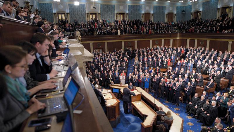 الكونغرس الأميركي أصدر قراراً وافقت عليه هاريس يرفض تدخل الأمم المتحدة في قضايا تتعلق بالقانون الإنساني الدولي في مناطق الاحتلال. أرشيفية