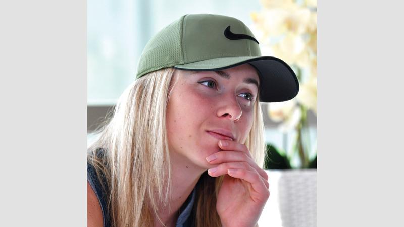 حاملة لقب البطولة في العامين الماضيين الأوكرانية إيلينا سفيتولينا. تصوير: باتريك كاستيلو