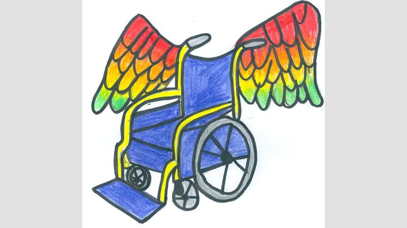 الكرسي المجنح.. أحد الإبداعات التي تأهلت للدورة السادسة.