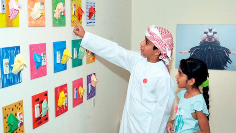 يتضمن المعرض ورشاً فنيّة وأنشطة ممتعة للأطفال. من المصدر