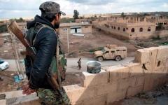 الصورة: أكراد سورية يطالبون بنشر قوة دوليــة لحمايتهم من التهديدات التركية