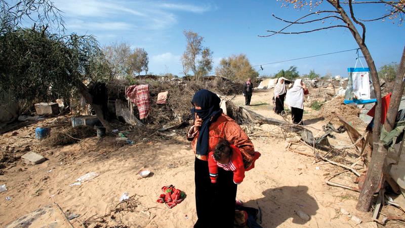 أهالي القرى البدوية غير المعترف بها إسرائيلياً  يواجهون مصيراً مجهولاً. الإمارات اليوم