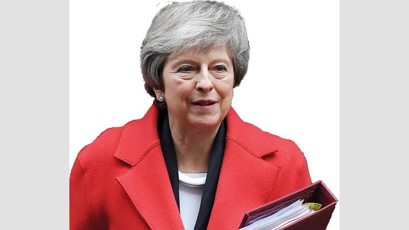 فرص رفض اتفاقية ماي لخروج بريطانيا من الاتحاد الأوروبي تتزايد. أ.ب
