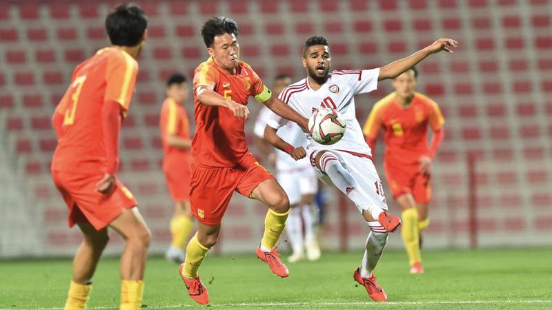المنتخب الأولمبي فاز على نظيره الصيني 2-1.  من المصدر