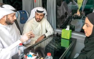 بلدية عجمان تدشن أول حافلة ذاتية القيادة