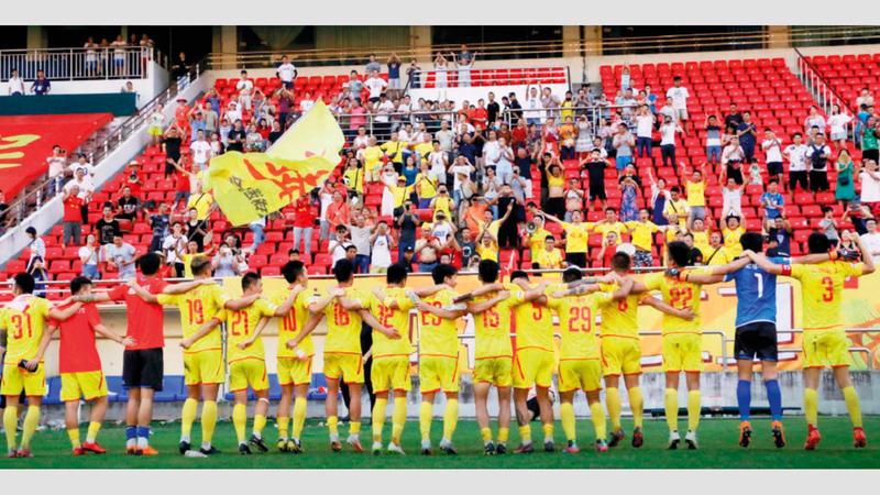 «سيشوان جيونو» ينافس في دوري الدرجة الثانية بالصين.  أرشيفية