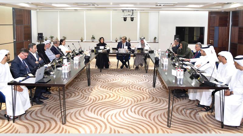 خلال اجتماع مجلس إدارة جائزة الصحافة العربية. من المصدر