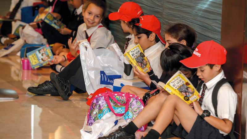 المهرجان يستضيف نخبة من المبدعين الذين يقدّمون جلسات وورش عمل للأطفال والناشئة. أرشيفية