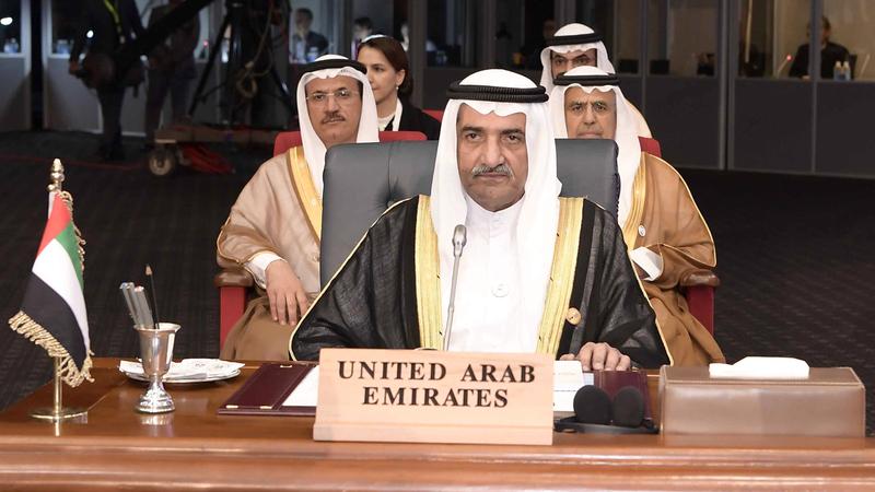 حمد بن محمد الشرقي ترأس وفد الدولة في القمة. وام