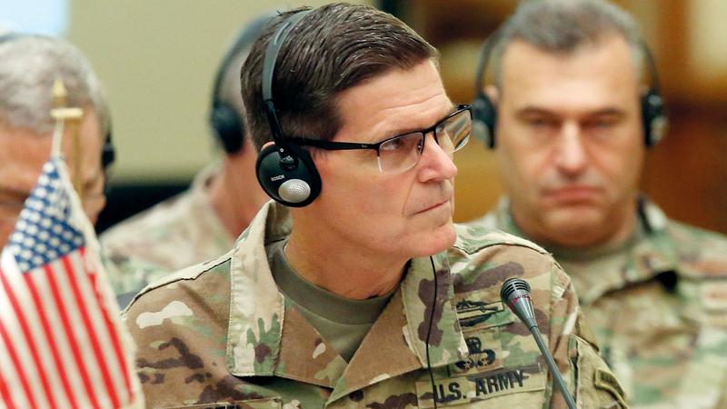الجنرال فوتيل يعارض خطط ترامب للانسحاب من سورية. أ.ف.ب
