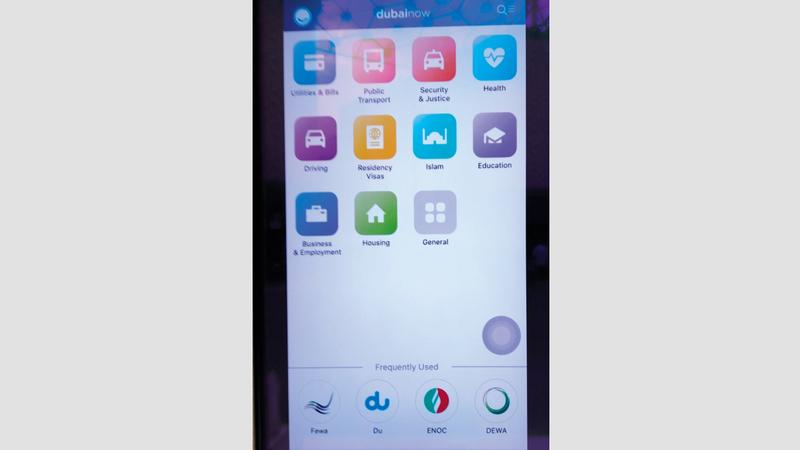 تطبيق «دبي الآن» يوفر أكثر  من 60 خدمة في مكان واحد.  من المصدر