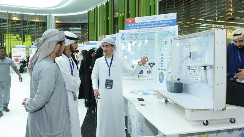 ابتكارات الطلبة المشاركين تعكس اهتمام الشباب بمجالات العلوم والتكنولوجيا والهندسة. من المصدر