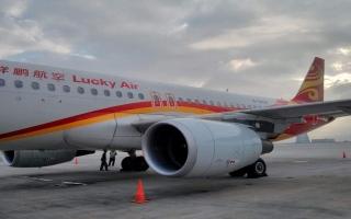 """الصورة: مسافر صيني يلقي عملة معدنية في محرك الطائرة لـ """"جلب الحظ"""""""