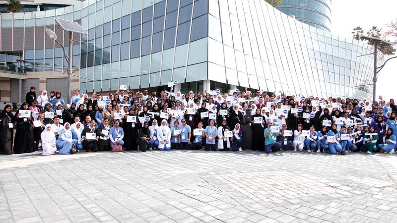 خلال فعاليات مؤتمر حملة «التمريض الاّن».  من المصدر