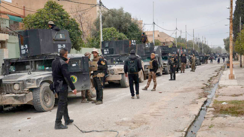 القوات العراقية خلال تحرير الموصل. أرشيفية