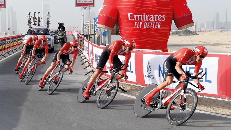 طواف الإمارات الوحيد في منطقة الشرق الأوسط ضمن الفئة العالمية لسباقات الدراجات الهوائية. تصوير: إريك أرازاس