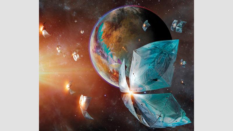 تحقيق المجلة يحمل عنوان «بحثاً عن أهل الكواكب». من المصدر
