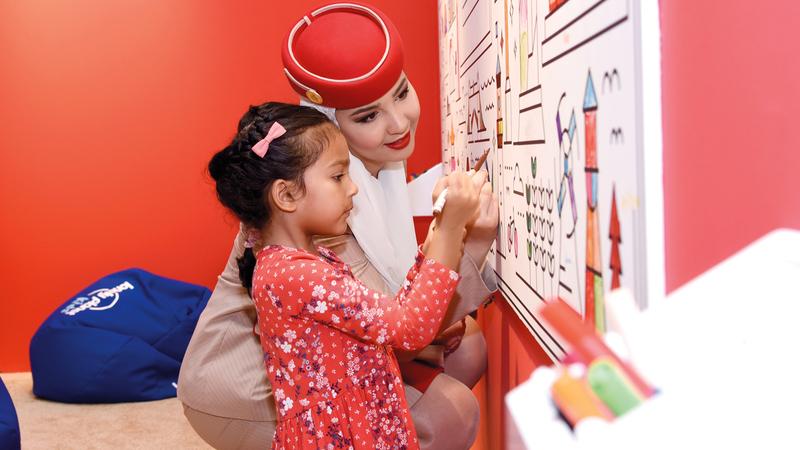 «طيران الإمارات» تواصل دعمها لفعاليات المهرجان.  من المصدر