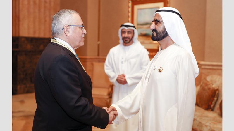 محمد بن راشد استقبل وزراء خارجية الدول الإسلامية وتمنى لهم التوفيق في اجتماعاتهم.  وام