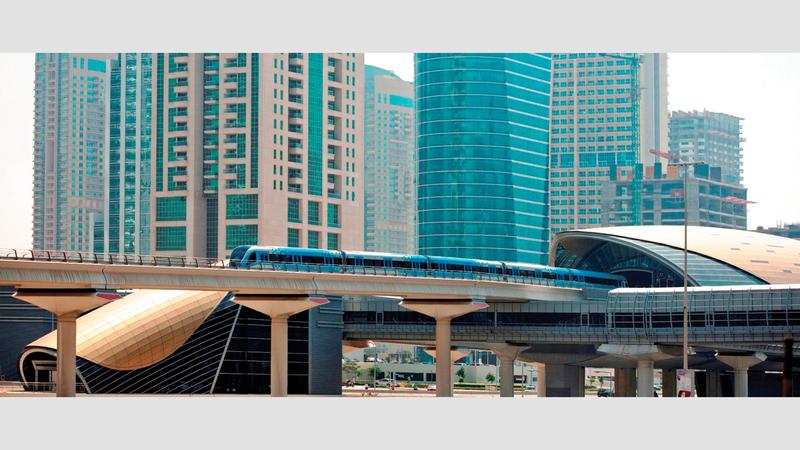 مترو دبي نقل العام الماضي 204 ملايين و400 ألف راكب. من المصدر