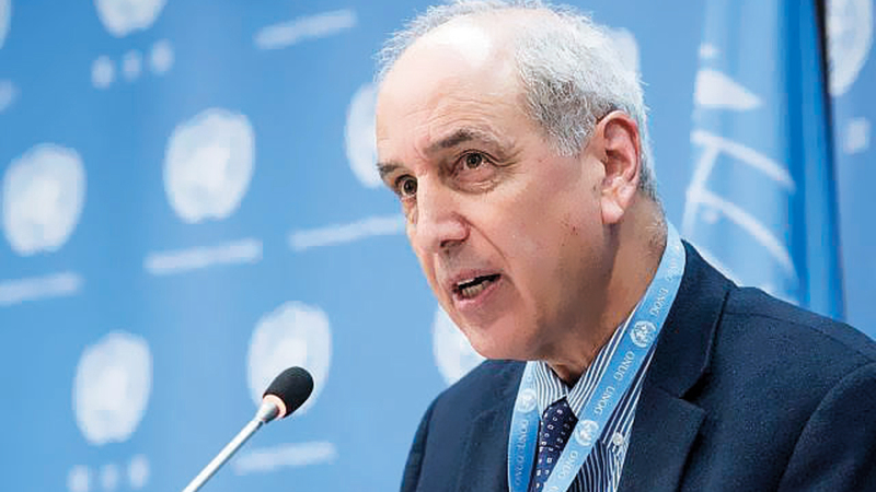 مايكل لينك: نطالب باتخاذ إجراءات حاسمة لضمان وقف الانتهاكات الإسرائيلية في غزة. أرشيفية