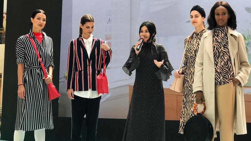 شهد العرض إطلاق تشكيلة جديدة من الأزياء المحافظة لموسم ربيع وصيف 2019.  الإمارات اليوم