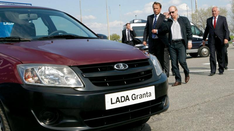 سيارة لادا روسية يمتلكها بوتين. من المصدر