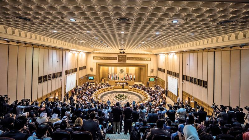 أعمال الدورة العادية الـ151 لمجلس جامعة الدول العربية. أ.ف.ب