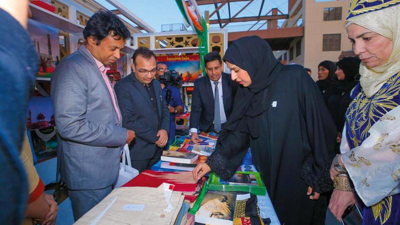 بوحميد دشنت المعرض بمشاركة 25 دولة عربية وأجنبية.  من المصدر