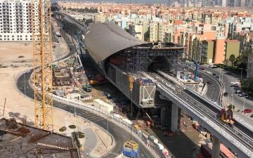 """الصورة: بالفيديو.. إنجاز 70% من مجمل أعمال """"مسار 2020"""" لتمديد مترو دبي لموقع إكسبو"""