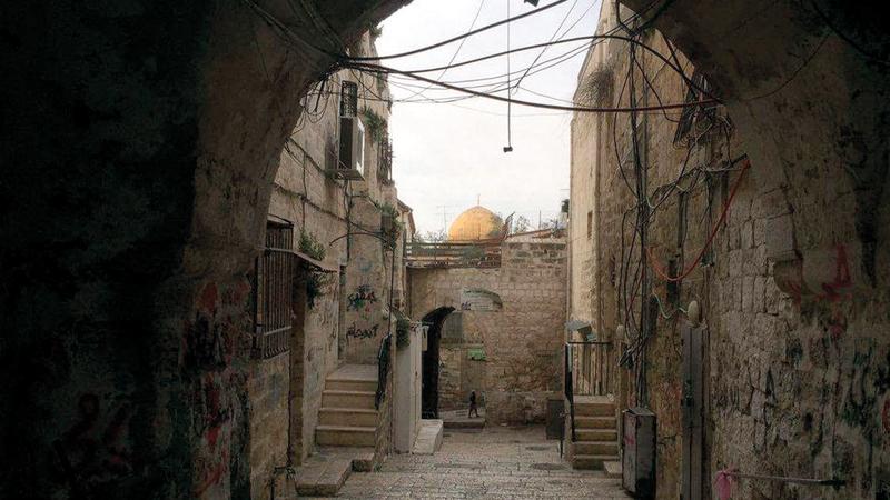 حارة السعدية أبرز حارات الحي الإسلامي في البلدة القديمة والمجاورة للمسجد الأقصى