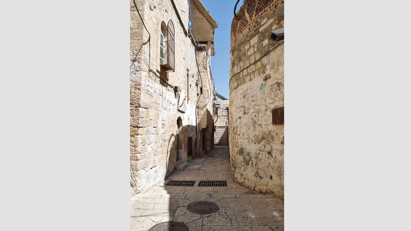 حارة السعدية أبرز الأماكن في الحي الإسلامي بالبلدة القديمة في القدس. الإمارات اليوم