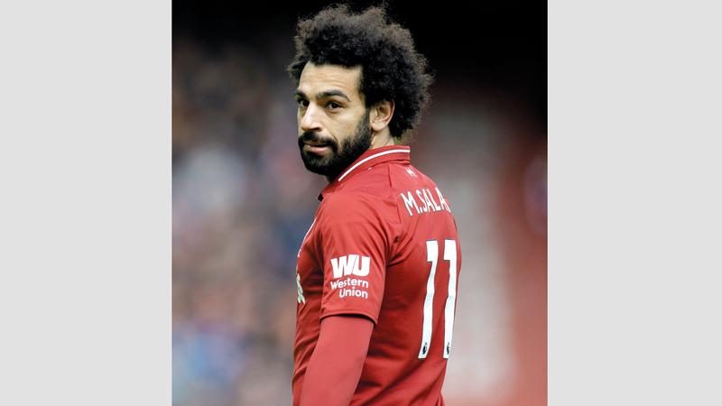 صلاح في لحظة تاريخية مع ليفربول اليوم. إي.بي.إيه