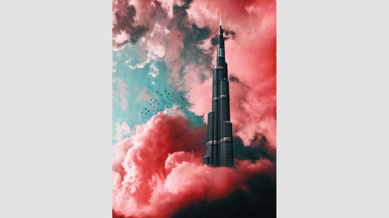 برج خليفة.. بعدسة الفلاسي ولمساته أيضاً.