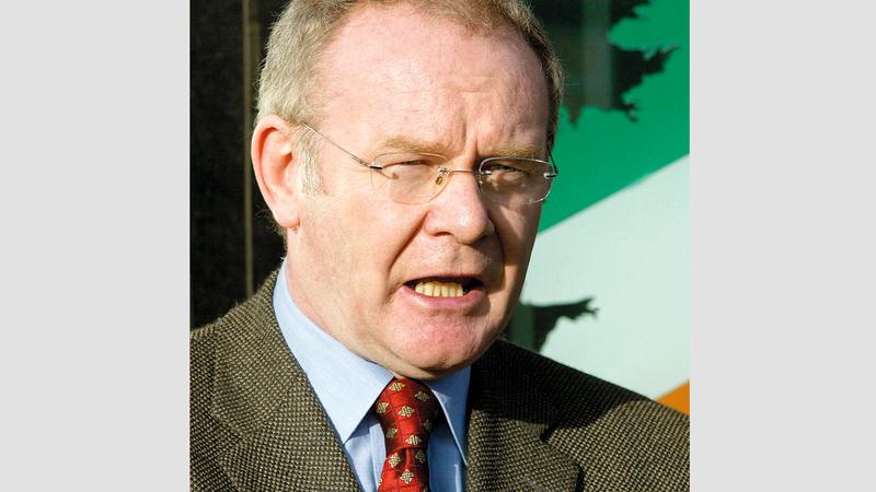 شارك مارتن ماغينيس في مفاوضات السلام الإيرلندية. أرشيفية
