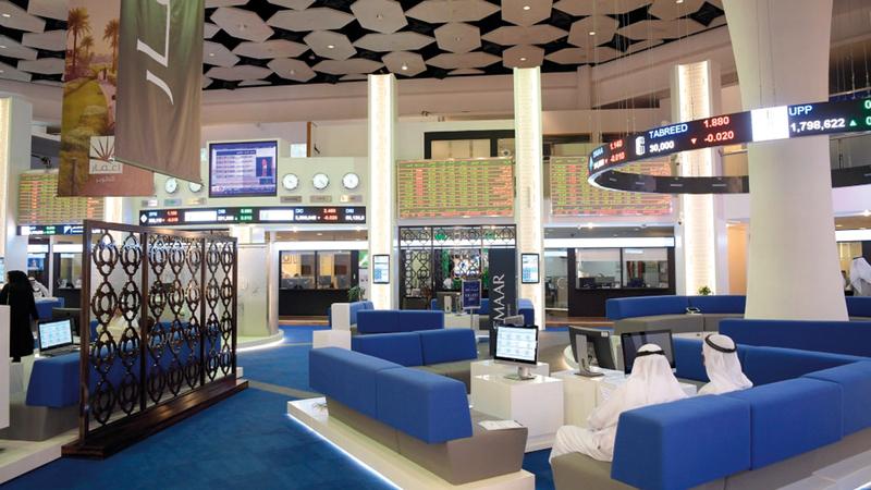 سوق دبي أغلق عند 2574.21 نقطة بنهاية تعاملات الأسبوع. أرشيفية