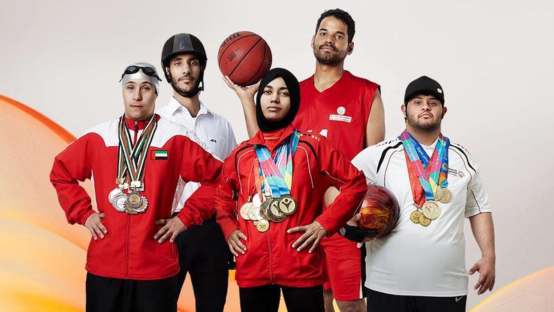 """نجوم منتخب الأولمبياد الخاص يتأهبون لحصد الميداليات في """"أبوظبي 2019"""". من المصدر"""