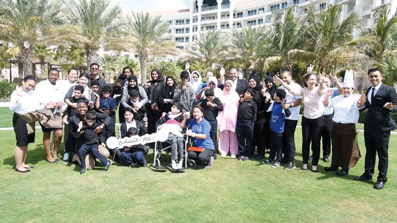 «فرحتهم فرحتنا» وفّرت أنشطة ترفيهية مختلفة للأطفال الأيتام.  الإمارات اليوم
