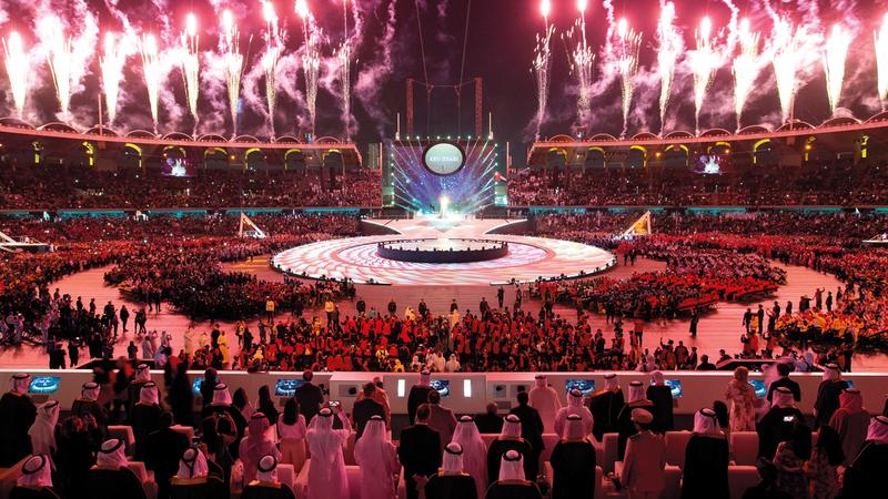 حفل افتتاح الألعاب العالمية للأولمبياد الخاص «أبوظبي 2019» أدهش العالم. أ.ف.ب