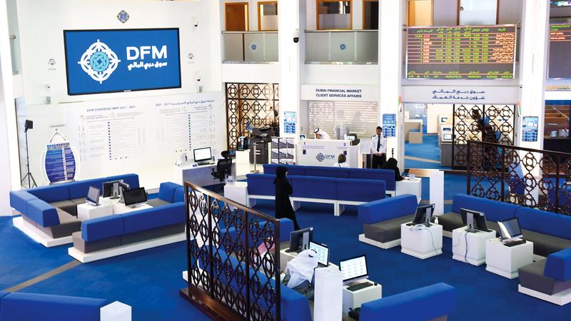 مؤشر سوق دبي ارتفع 2.11% خلال تعاملات الأسبوع الماضي. تصوير: أحمد عرديتي