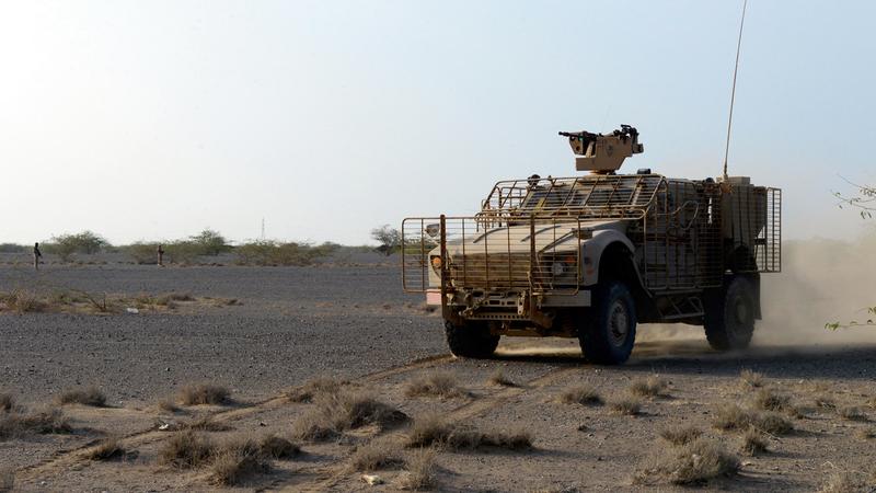 قوات الشرعية خلال تقدمها إلى حيس. أرشيفية