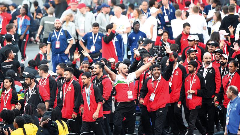 اختتمت أمس الألعاب العالمية للأولمبياد الخاص بأبوظبي، وحققت خلالها الإمارات نتائج تاريخية بـ 182 ميدالية. تصوير: إريك أرازاس
