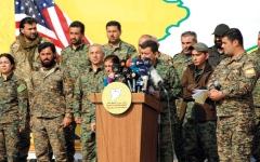 الصورة: «قسد» تعلن هزيمة «داعـــش» وتطالب تركيا بالخروج من الأراضي الســـورية