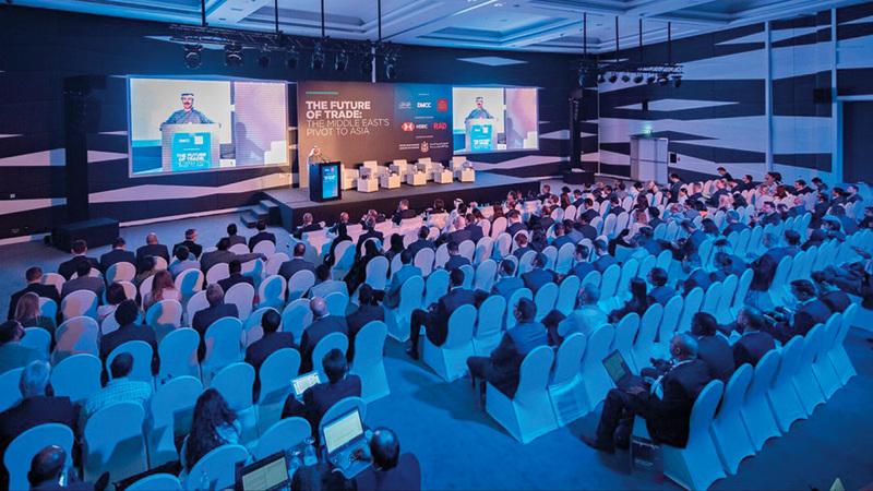 خلال مؤتمر «مستقبل التجارة.. محورية الشرق الأوسط لآسيا». من المصدر