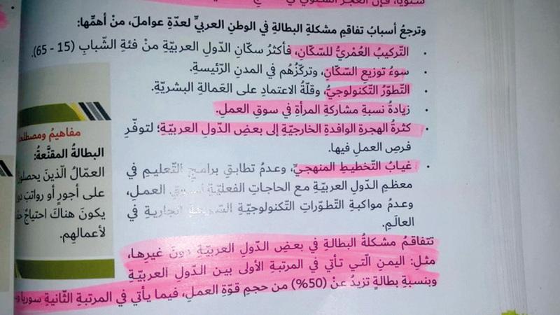 الدرس اعتبر أن عمل المرأة يقلل فرص العمل المتاحة أمام الرجل. الإمارات اليوم