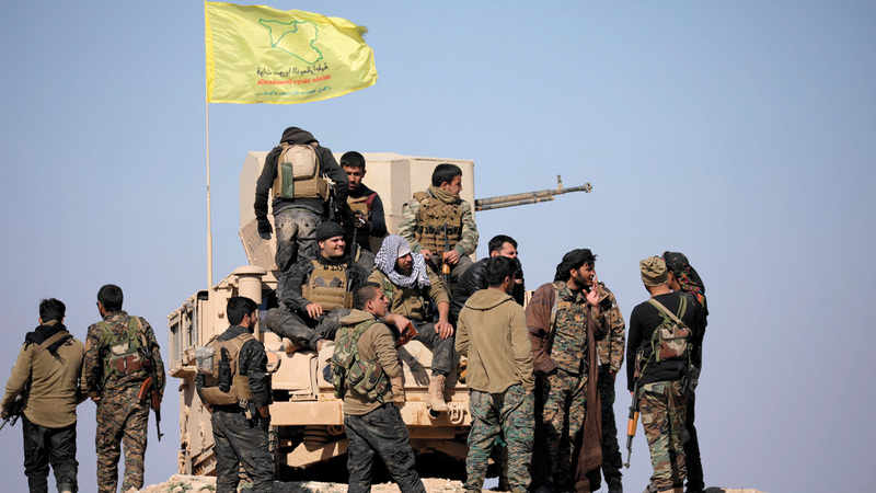 قوات سورية الديمقراطية تسيطر على 30% من الدولة.  رويترز