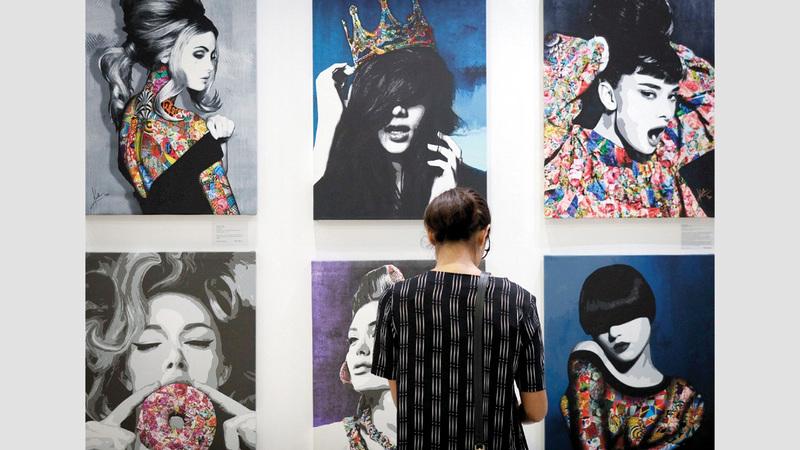 «فنون العالم دبي» يقدم إبداعات للجمهور بأسعار مقبولة. من المصدر